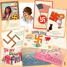 Зомбирование доверчивых - Знаки свастики на открытках начала 20 века