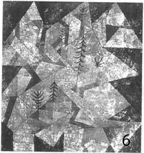 Картина Пауля Клее «Лесное строительство»