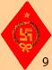 Знак свастики в петлицах красноармейцев южного фронта